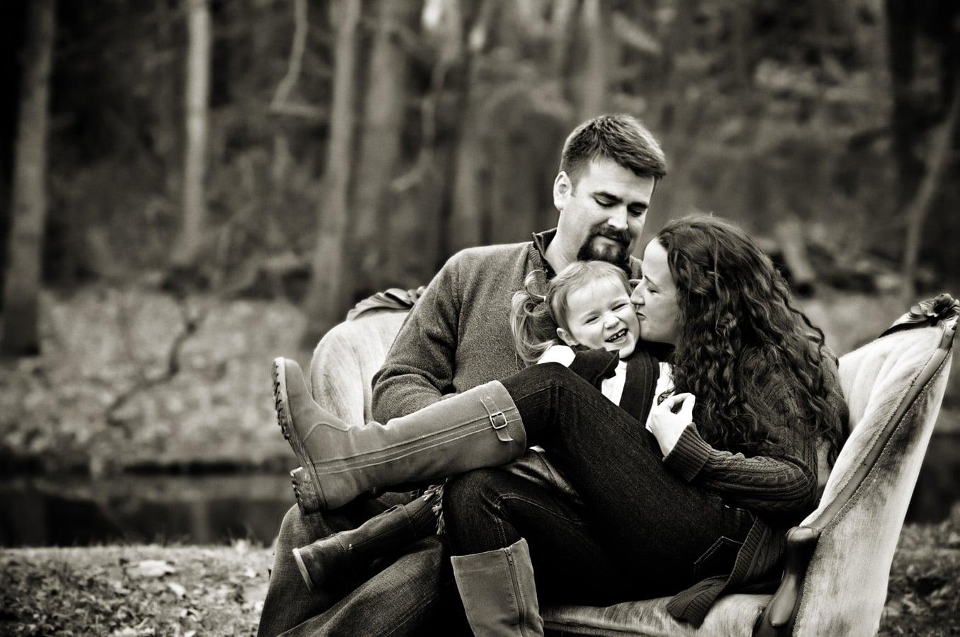 family portrait, sofa, outdoor, natural light, Northern VA