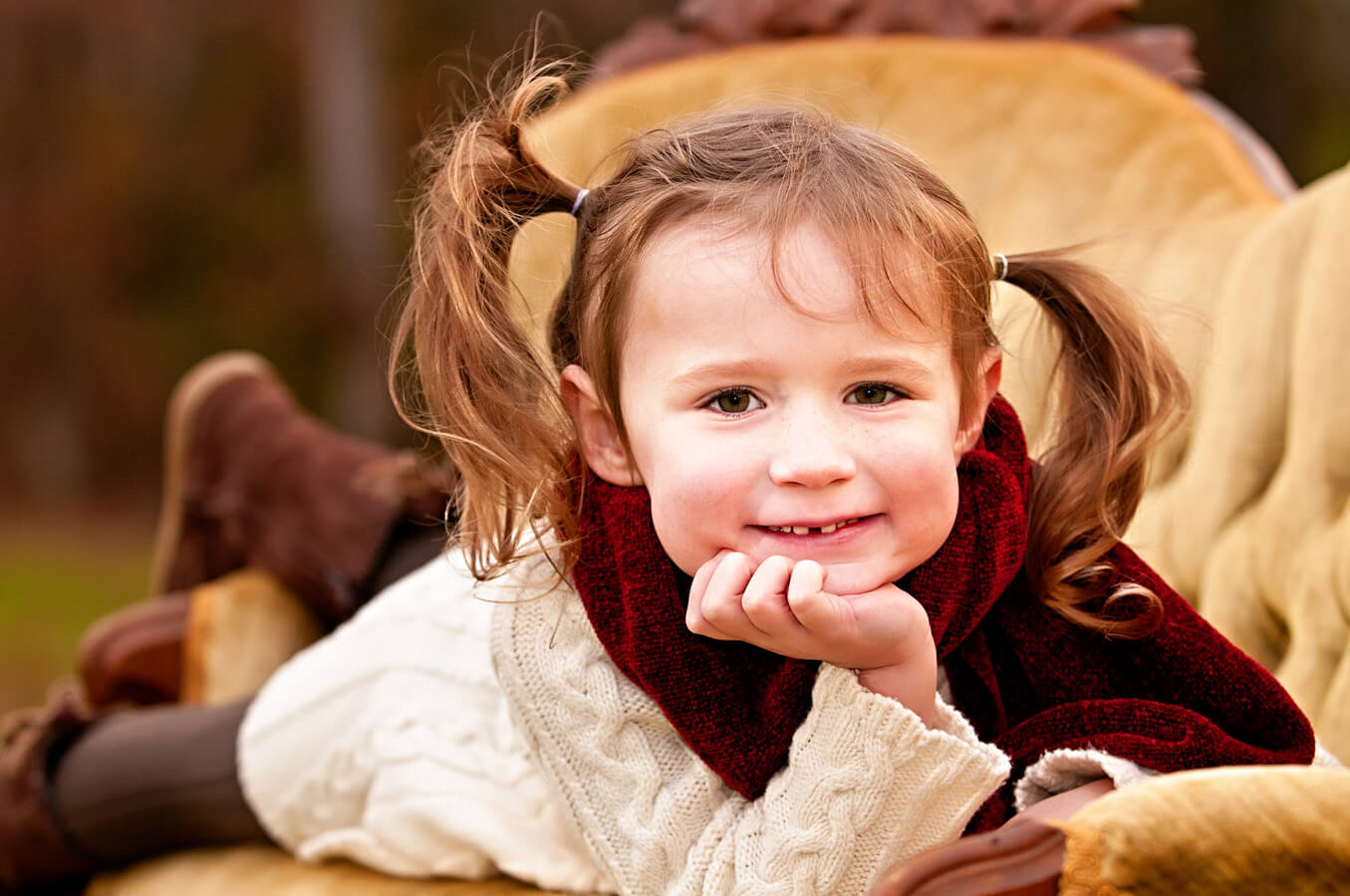 child, portrait, sofa, outdoor, natural light, Northern VA