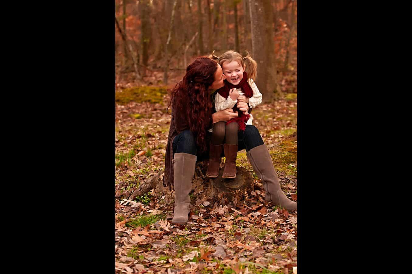 family portrait, outdoor, natural light, autumn, Northern VA