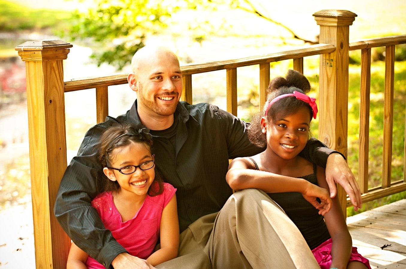 family portrait, bridge, outdoor, natural light, Northern VA