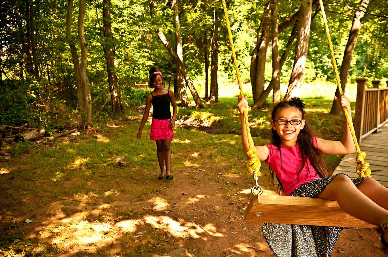 children, portrait, outdoor, swing, natural light, Northern VA