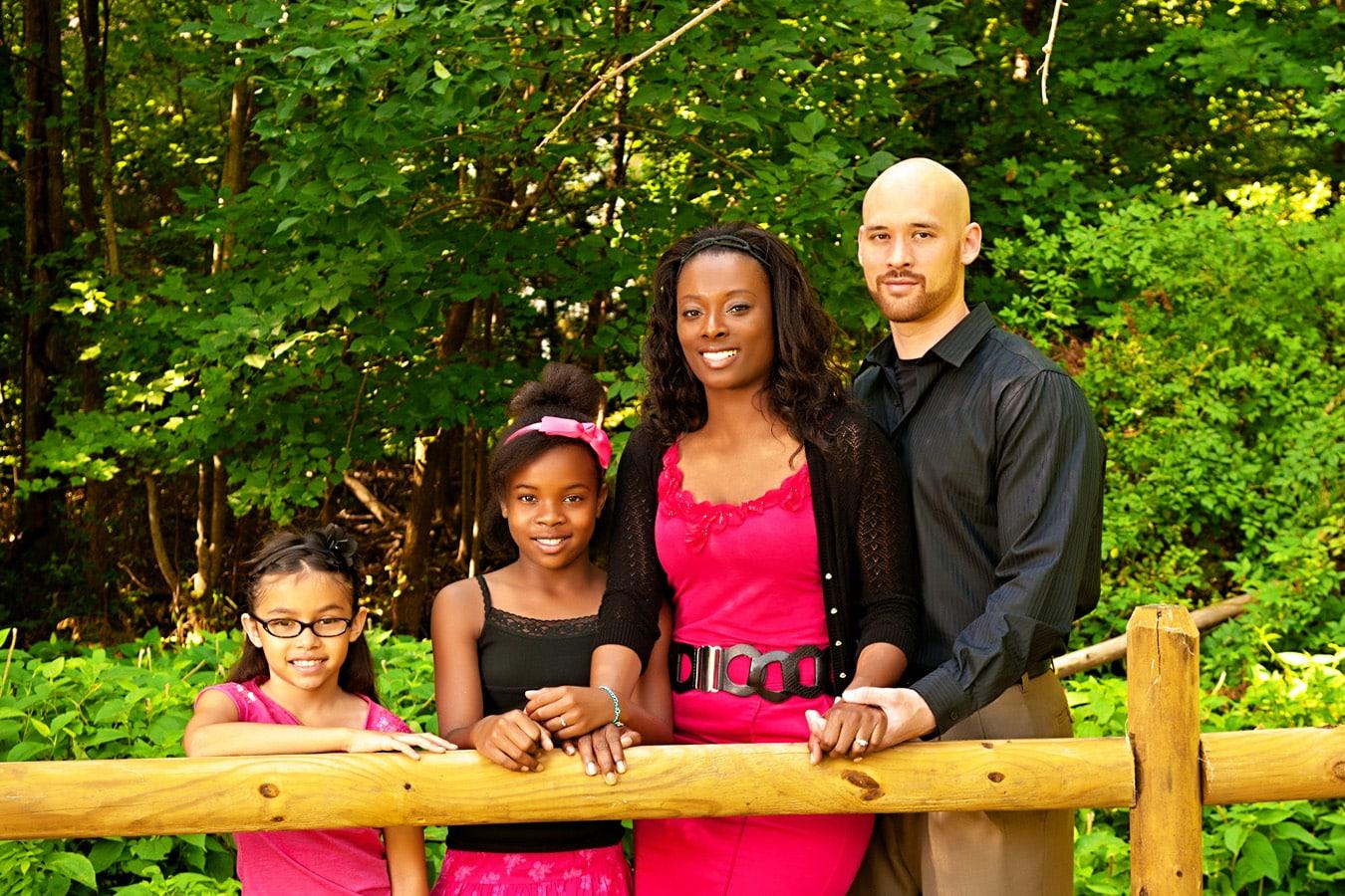 family portrait, outdoor, bridge, natural light, Northern VA