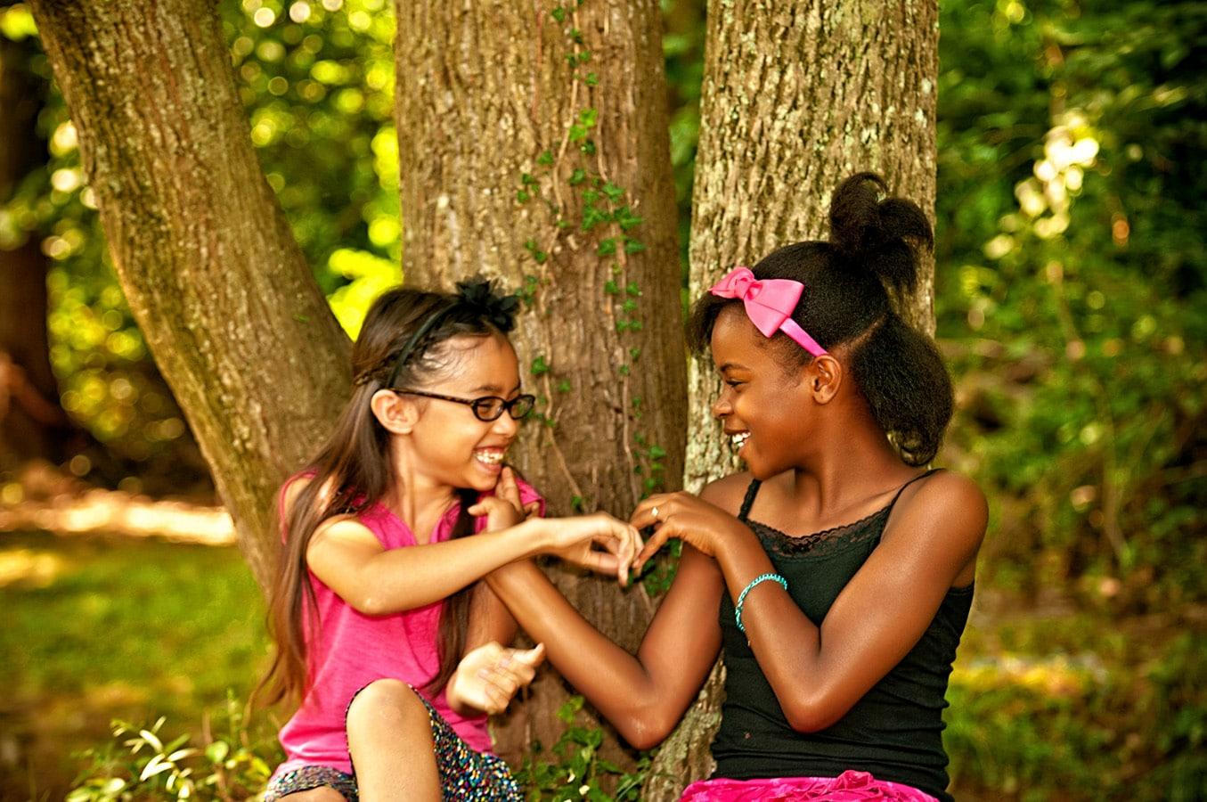 children, portrait, outdoor, trees, natural light, Northern VA