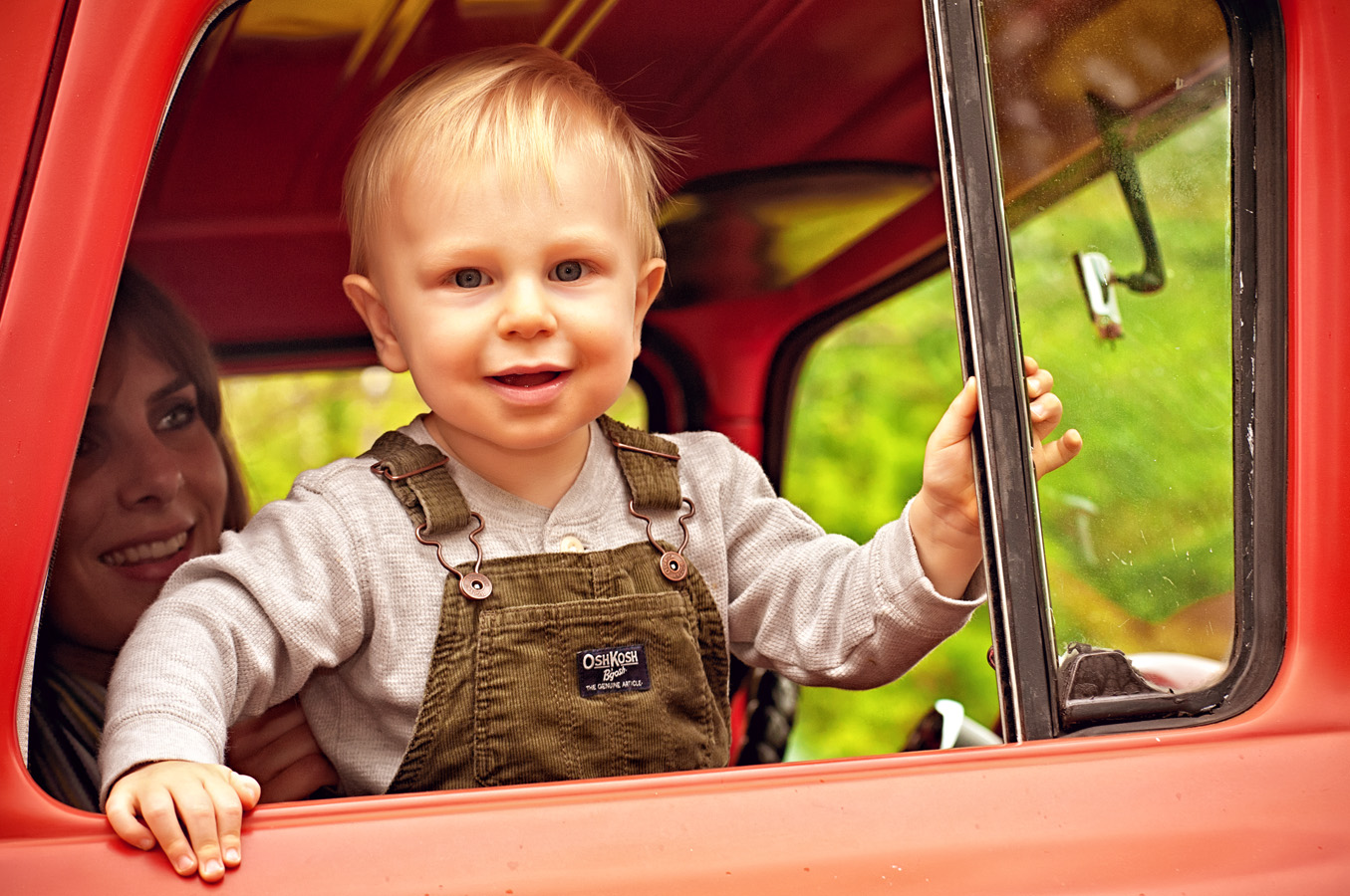 child, truck, outdoor, natural light, Northern VA