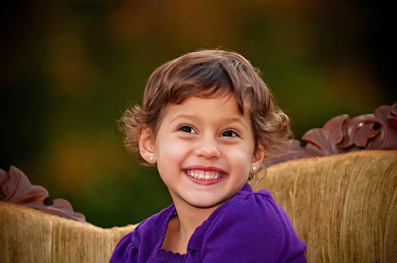 child, portrait, outdoor, sofa, Northern VA