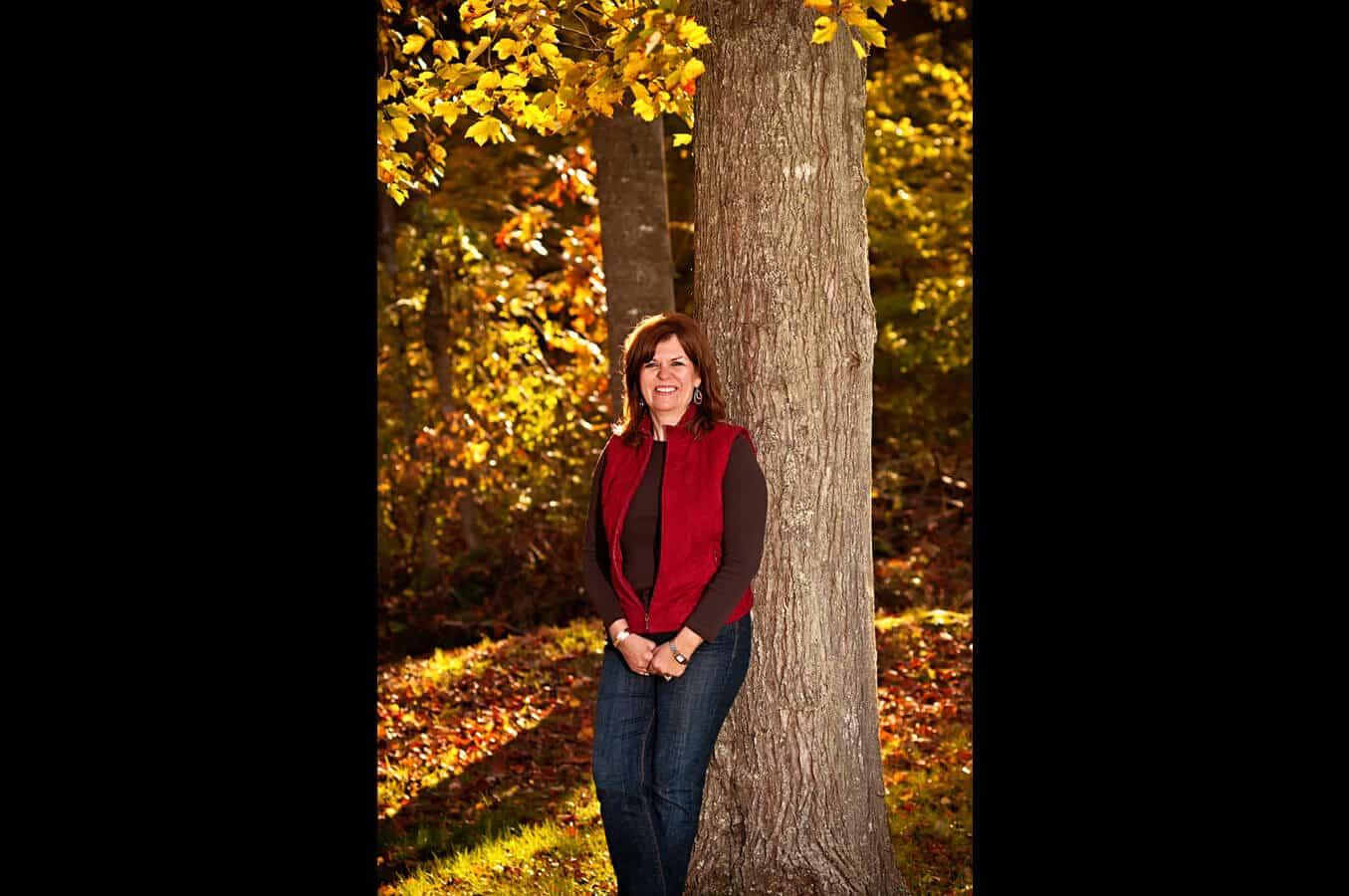 portrait, outdoor, trees, autumn, natural light, Northern VA