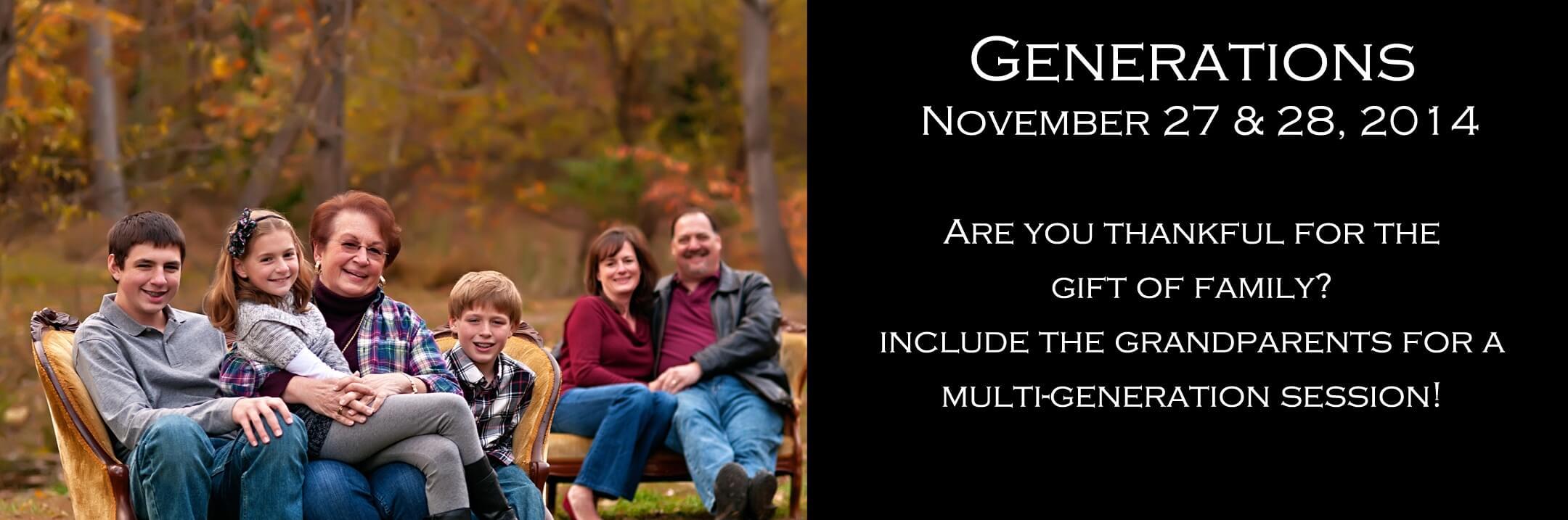 Multi Generational family portraits