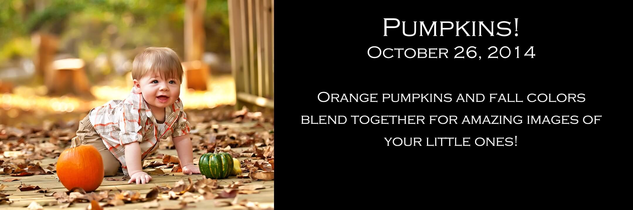 Fall Portrait Session for Children with Pumpkins