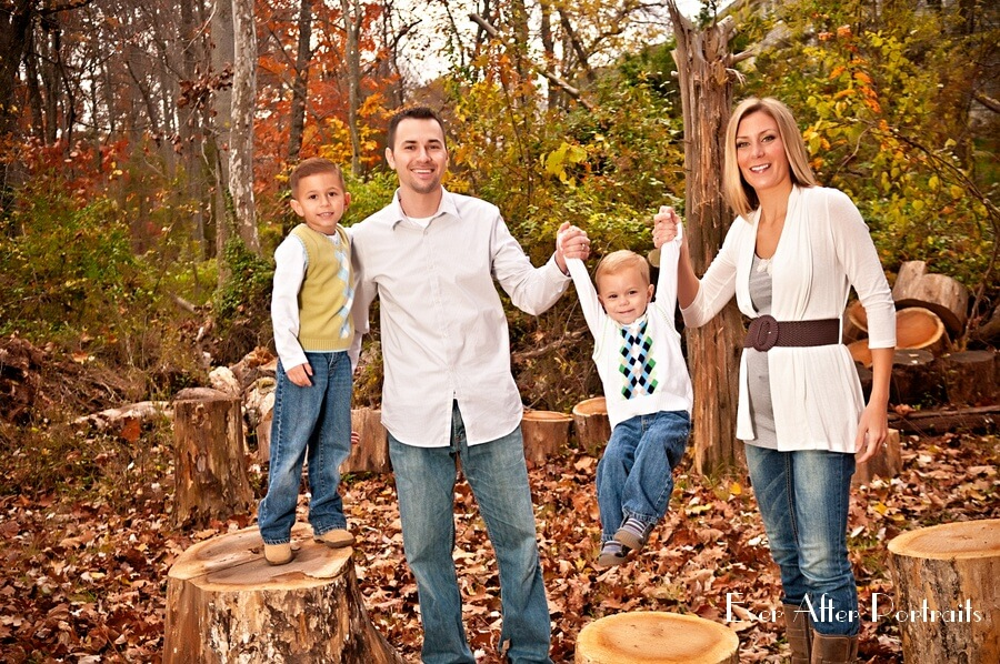 Family portraiture in autumn.