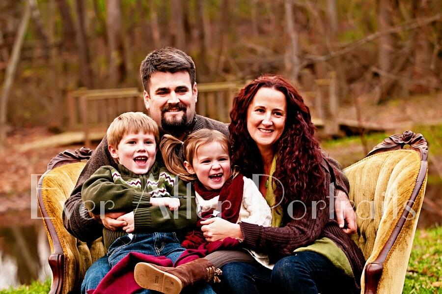 Autumn family portrait.