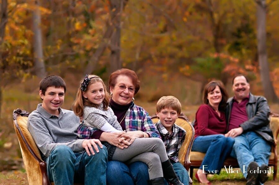 Multigenerational portraiture in our outdoor studio._