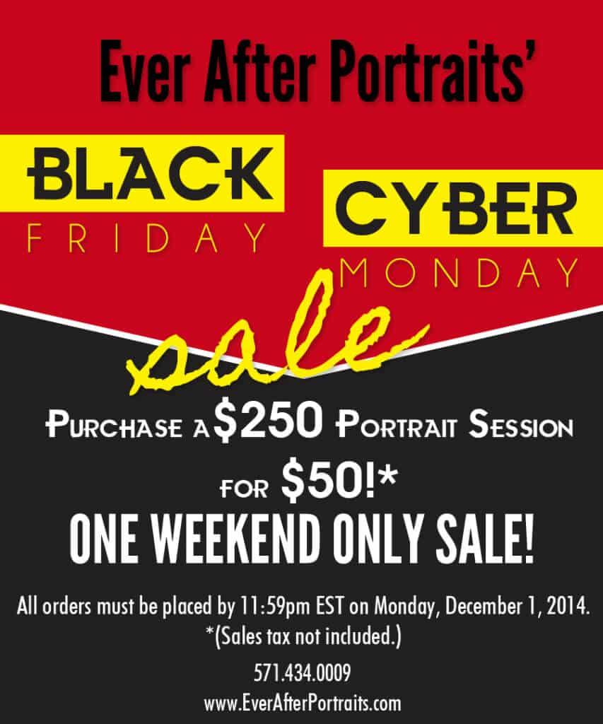 Black Friday Cyber Monday Sale - Portrait Photography
