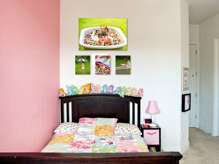 Bubblegum Princess Wall Grouping Portrait Photography Studio   Leesburg VA