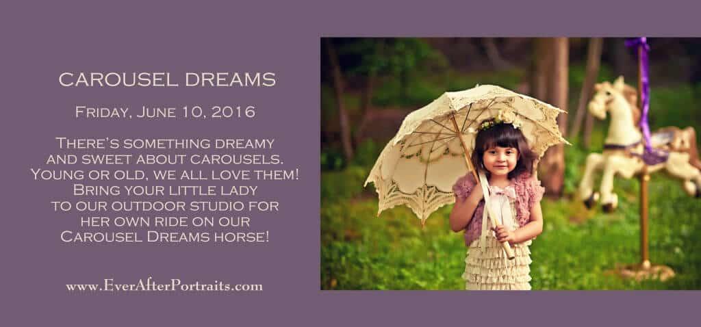 Carousel Dreams Portrait Session Portrait Photography Studio | Leesburg VA |