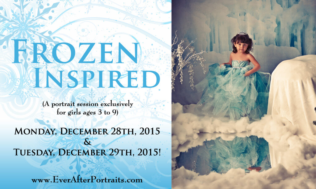 photography studio Frozen Inspired portraits