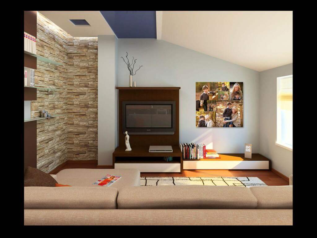 family pictures Family room wall collection