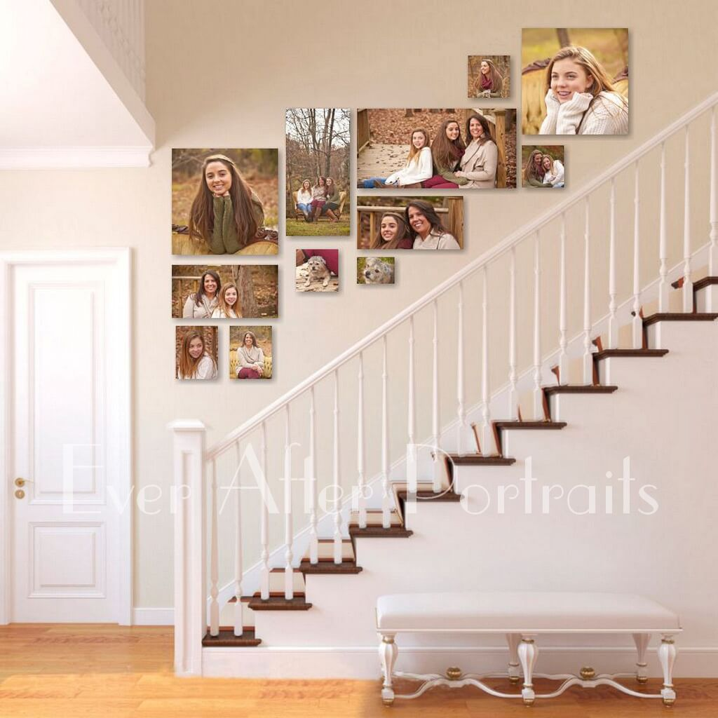 portrait photography family staircase