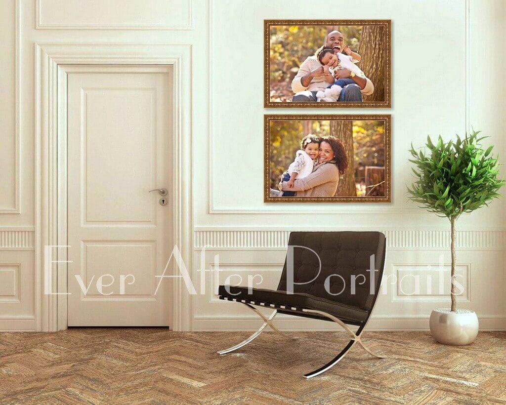 studio photographer family portraits as wall art