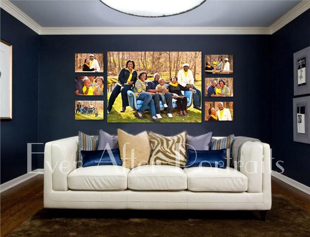 portrait studio Family Portraits decorate with color