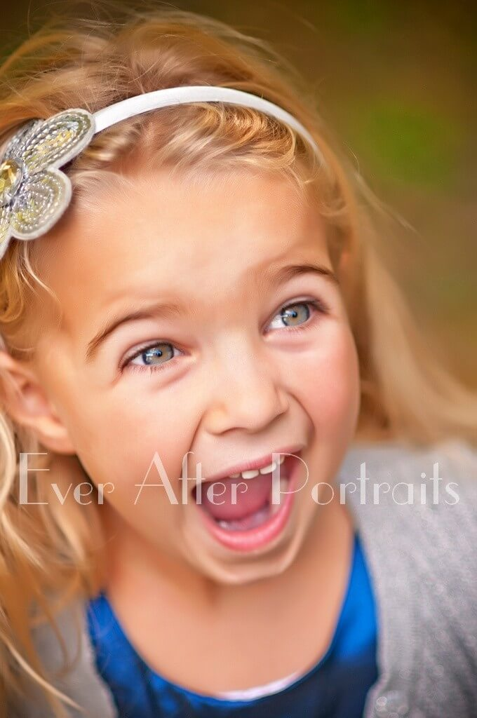 Laughing little girl portrait northern virginia family photographers