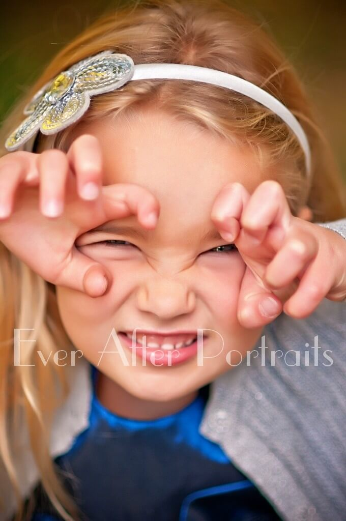 Silly Little Girl Portraits northern virginia family photographer