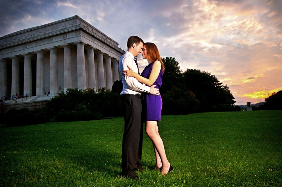 Shannon & Will, at the D.C. Monuments