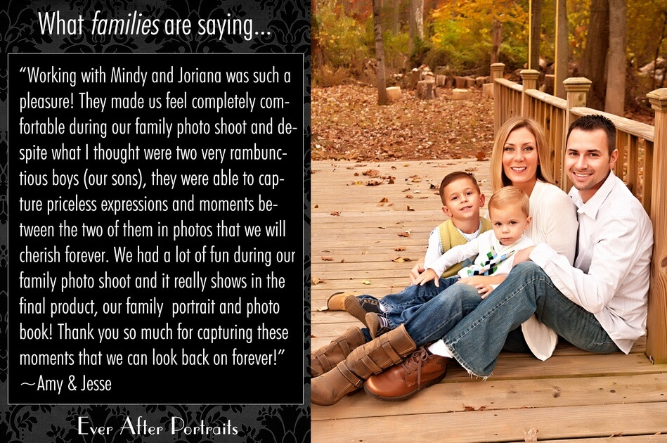 What families are saying, Amy & Jesse | Northern VA Family Photographer
