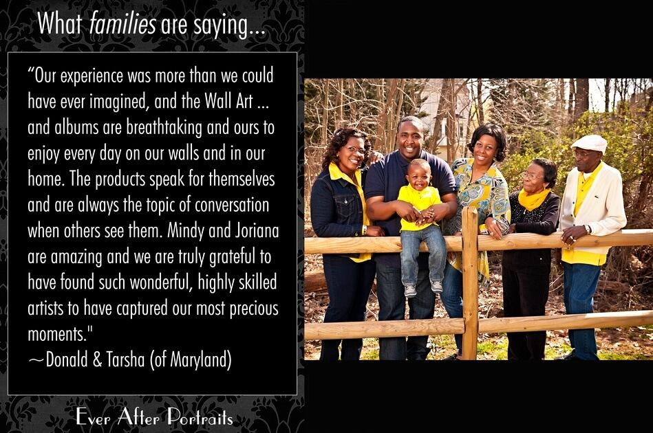 What families are saying, Donald & Tarsha | Northern VA Family Photographer
